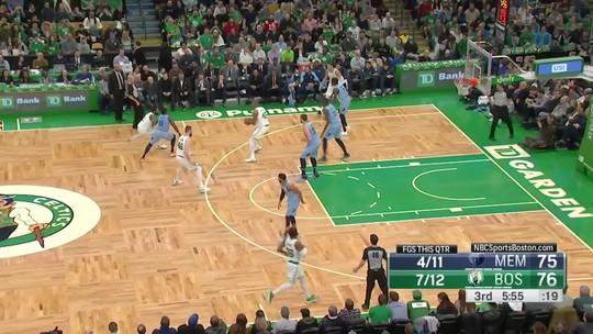 Com explosão de Kyrie Irving no terceiro período, Celtics seguram os Grizzlies e vencem em casa
