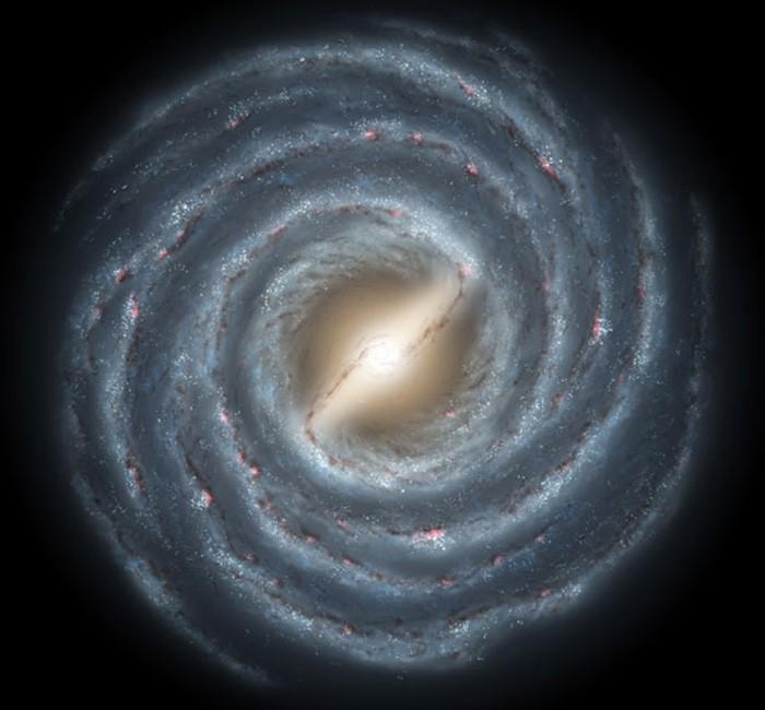 Aglomerados estelares foram encontrados no centro da galáxia (Foto: Nasa)