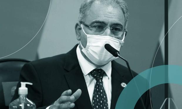 Marcelo Queiroga no segundo depoimento à CPI da Covid: ministro admitiu que não tem