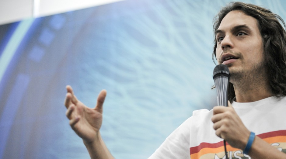 Murilo Gun, empreendedor e comediante, apresentou-se na Feira do Empreendedor SP 2018 (Foto: Divulgação)