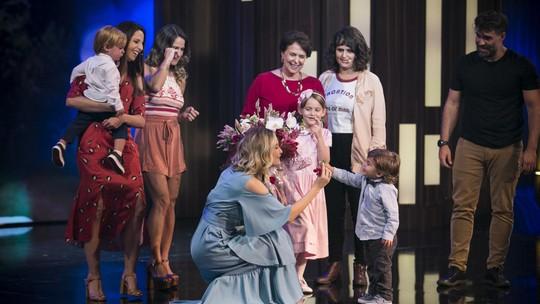 Filha de Fernanda Rodrigues emociona com linda homenagem no 'Tamanho Família'