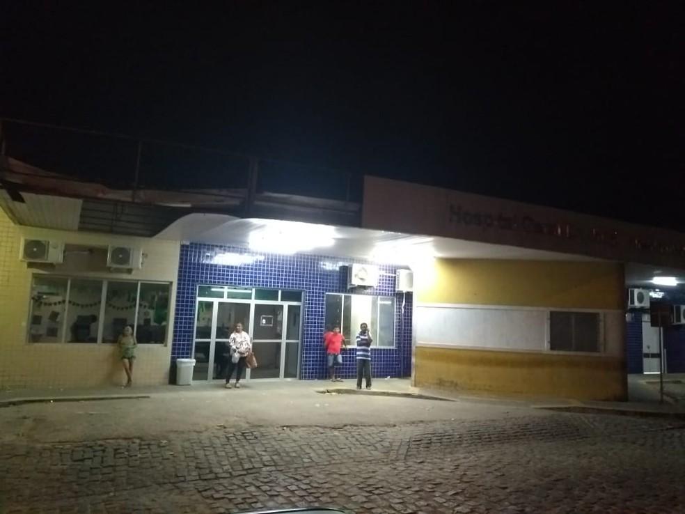 Hospital Santa Catarina, na Zona Norte de Natal — Foto: Acson Freitas/Inter TV Cabugi