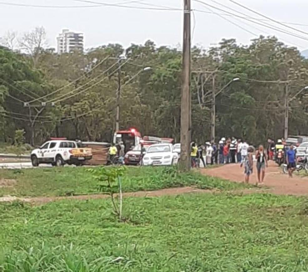 Acidente aconteceu próximo da quadra 308 sul, no centro de Palmas — Foto: Divulgação