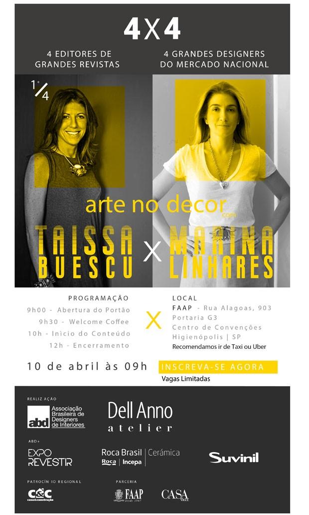 Taissa Buescu e Marina Linhares falam sobre arte na decoração (Foto: Divulgação)