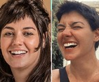 Veronica Debom antes e depois de mudar o visual | Divulgação e Reprodução
