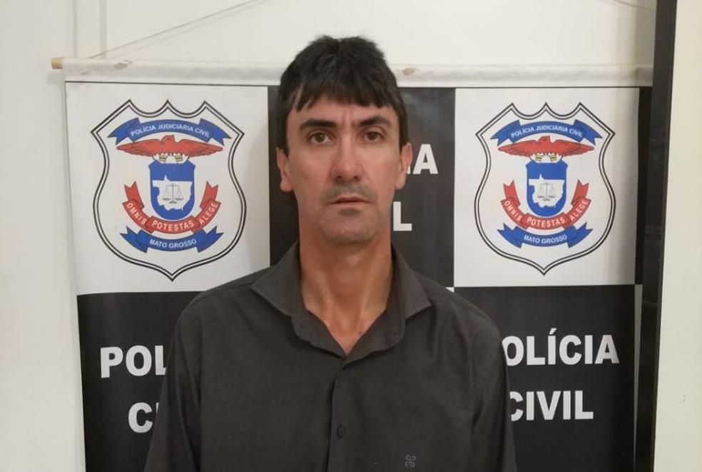Nivaldo Francisco Rodrigues foi preso em outra fase da operação e negou os crimes (Foto: Polícia Civil de MT)