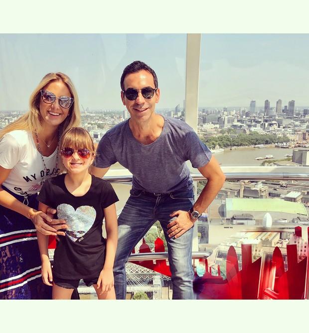 Rafa Justus, Tici Pinheiro e César Tralli na London Eye  (Foto: Reprodução Instagram)