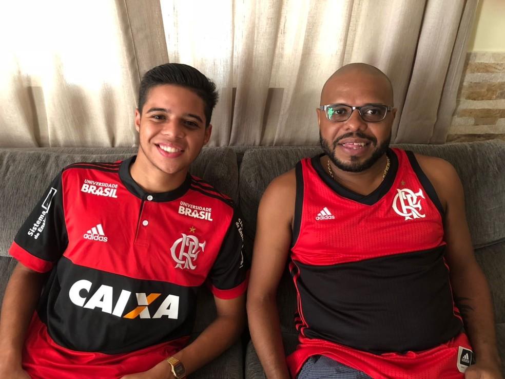 319e91cfda2b1 ... João Gabriel e Lê Flamengo — Foto  Igor Rodrigues GloboEsporte.com