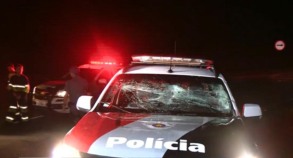 Perseguição terminou com três mortos na Rodovia Deputado Laércio Corte (SP-147), em Piracicaba' — Foto: Reprodução/EPTV