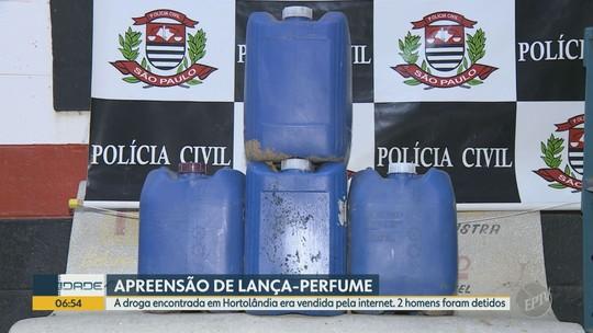 Polícia em Hortolândia apreende suposto lança-perfume traficado pela internet; dois foram detidos