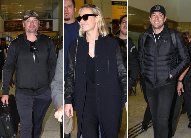 Tom Welling, Brie Larson e Zachary Levi chegam a São Paulo (Foto: AgNews/Leo Franco)
