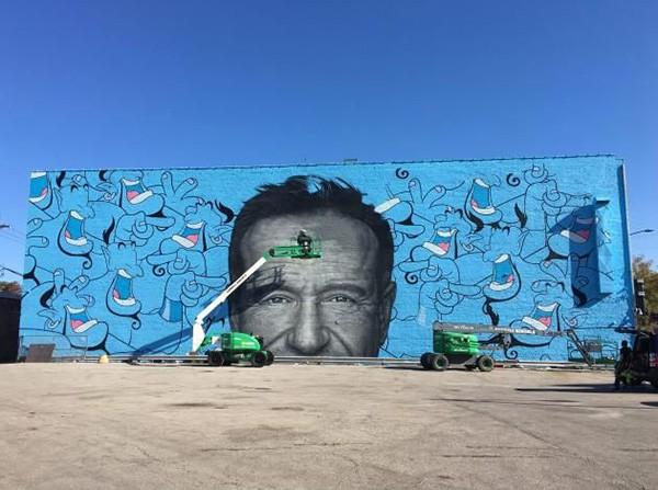Mural com Robin Williams (Foto: Pinterest)