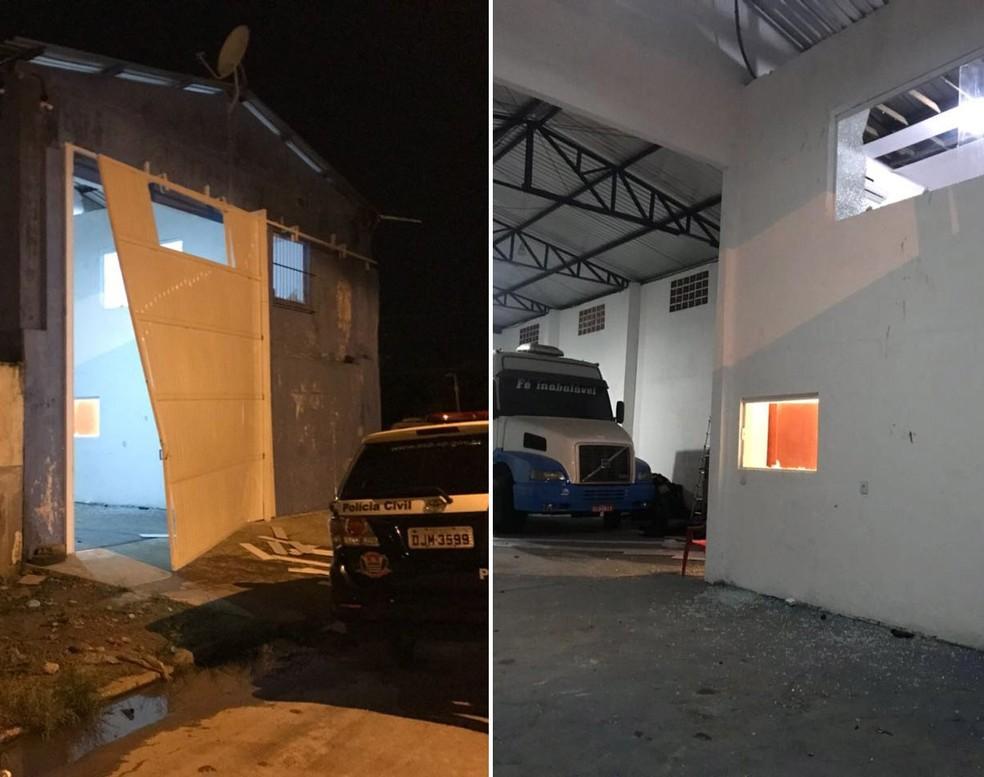 Caminhão foi localizado em entreposto do tráfico, em Guarujá, SP, quando Jailton foi preso — Foto: G1 Santos