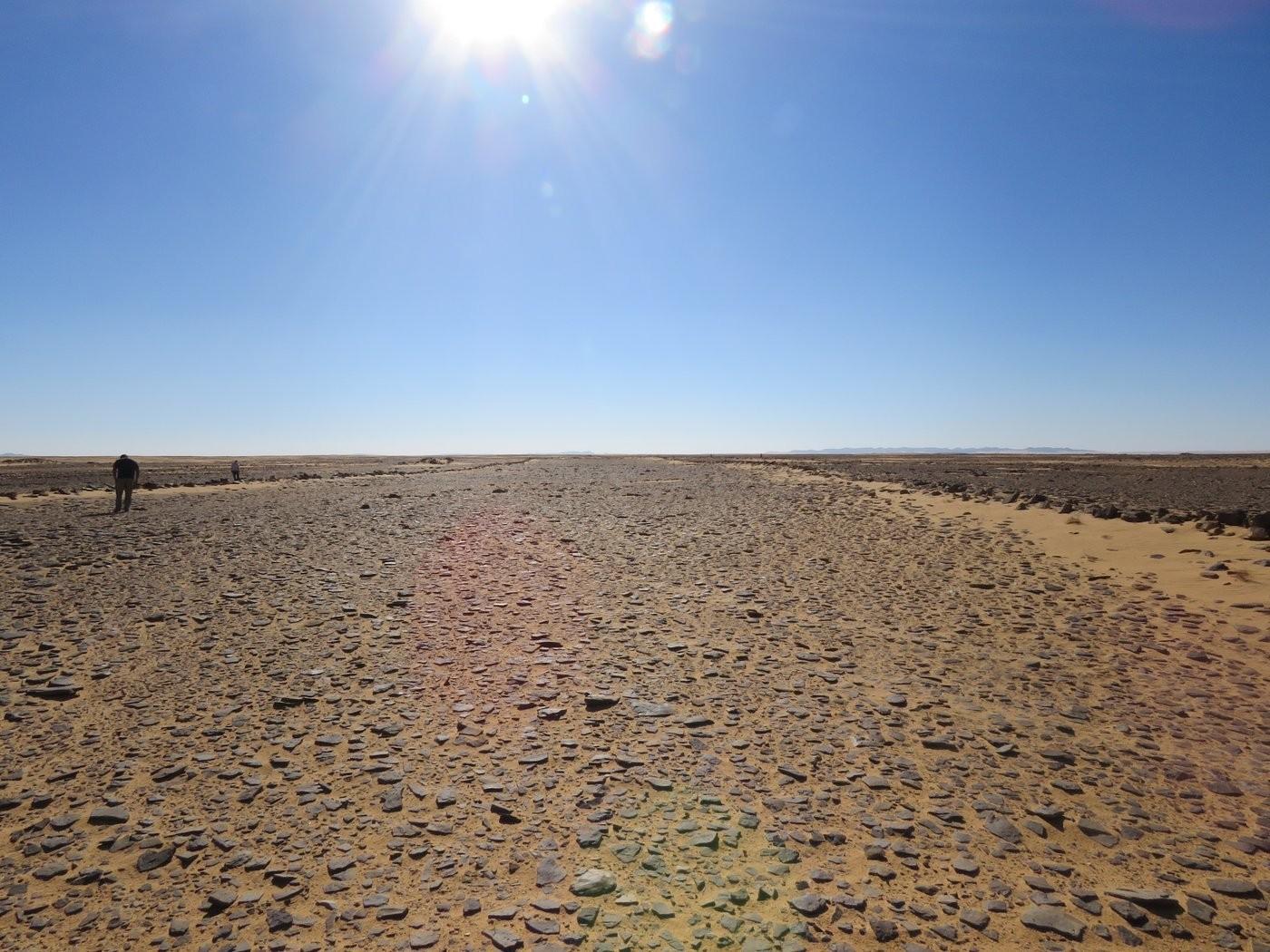 Vista de dentro do maior mustatíl já identificado, com mais de 600 metros (Foto: The Holocene)