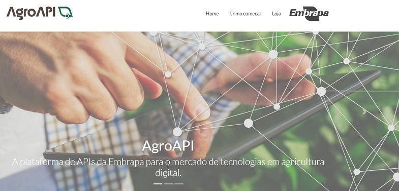 Página de acesso à plataforma de API da Embrapa. Empresa estuda modelo de negócios para manter sistema (Foto: Reprocução/Embrapa)