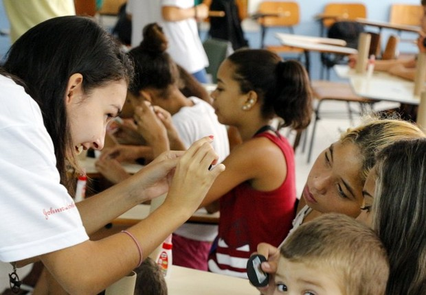 Atividade promovida pelo grupo Mulheres em STEM²D, formado por alunas do ITA (Foto: ITA/Divulgação)