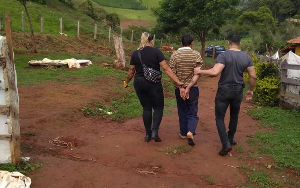 Suspeito de abusar de enteado de 5 anos é preso em Espírito Santo do Dourado (MG) — Foto: Polícia Civil