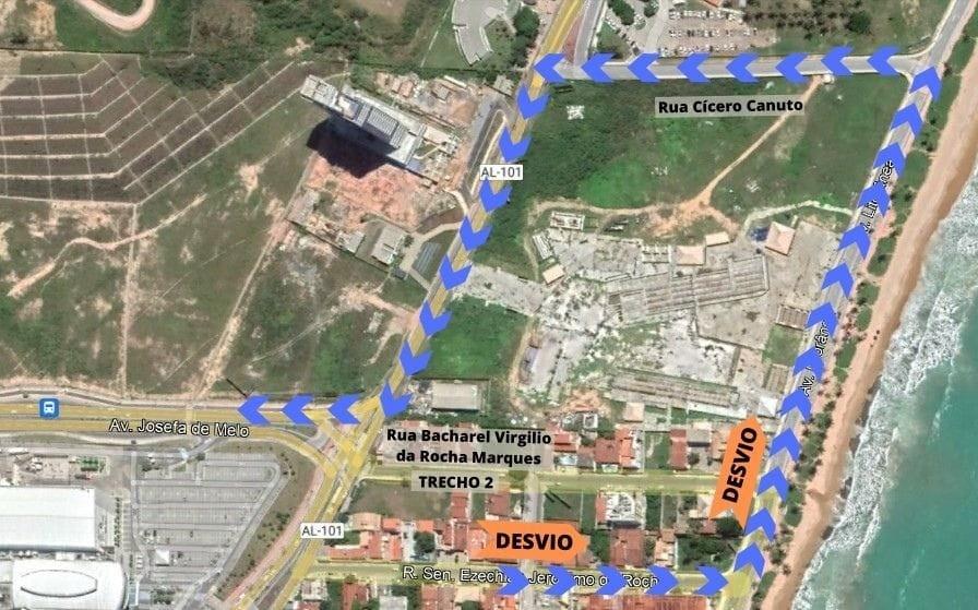 Rua em Cruz das Almas, Maceió, é interditada nesta terça-feira