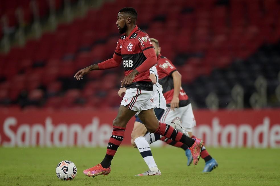 Gerson - Flamengo x Vélez Sarsfield - Libertadores 2021 — Foto: Staff Images/Conmebol