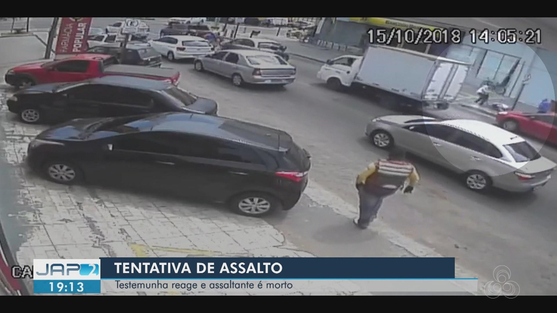 Vídeo mostra homem armado atrás de bandido após tentativa de roubo em Macapá - Radio Evangelho Gospel