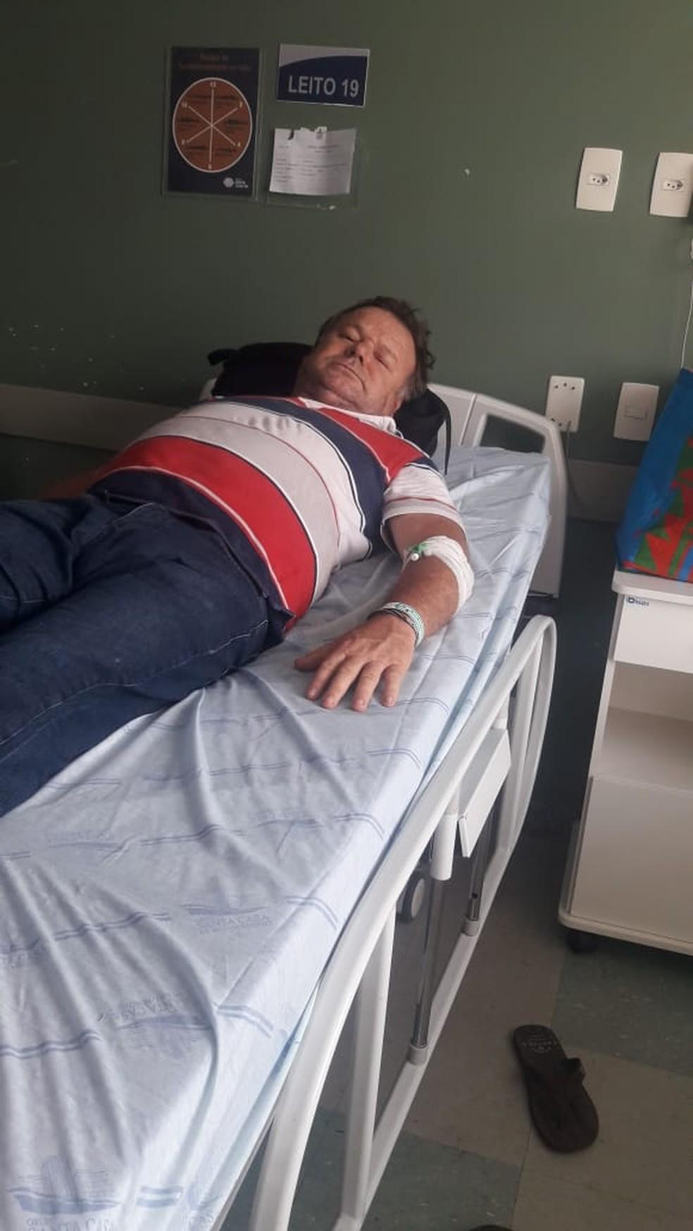 Josias Moreira de Matos ficou internado após consumir cerveja da Backer — Foto: Dayane Hulda Bernardes de Matos/Arquivo Pessoal