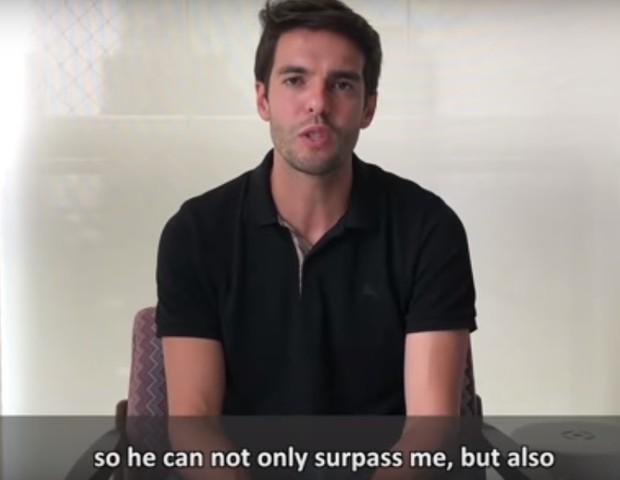 Kaká em vídeo no canal de Neymar (Foto: reprodução)