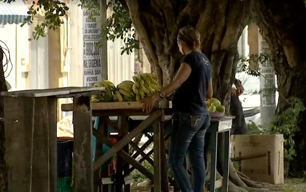 Feira livre no Bairro Vila Velha em Fortaleza. — Foto: Reprodução/TV Verdes Mares