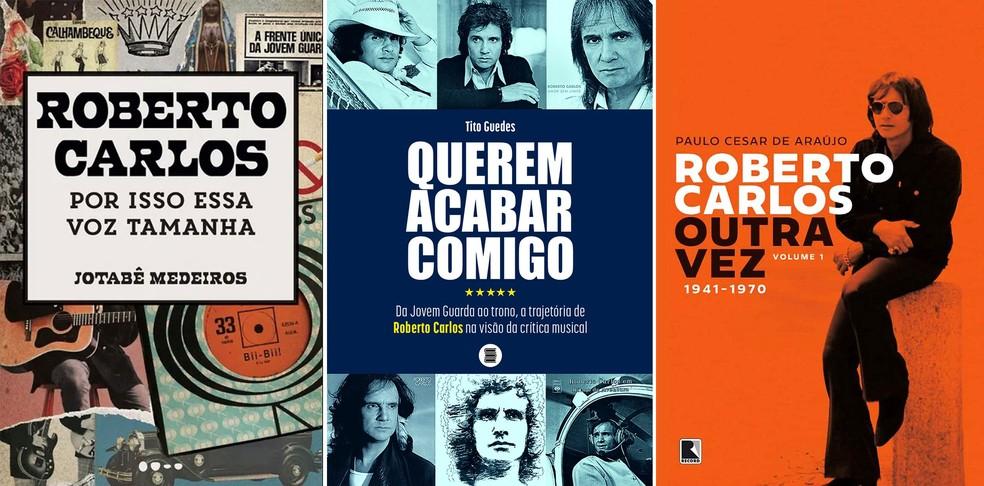 Roberto Carlos 80 anos: vida e carreira do cantor é analisada em novos livros; forma como a crítica musical destacou o Rei também é destaque — Foto: Reprodução