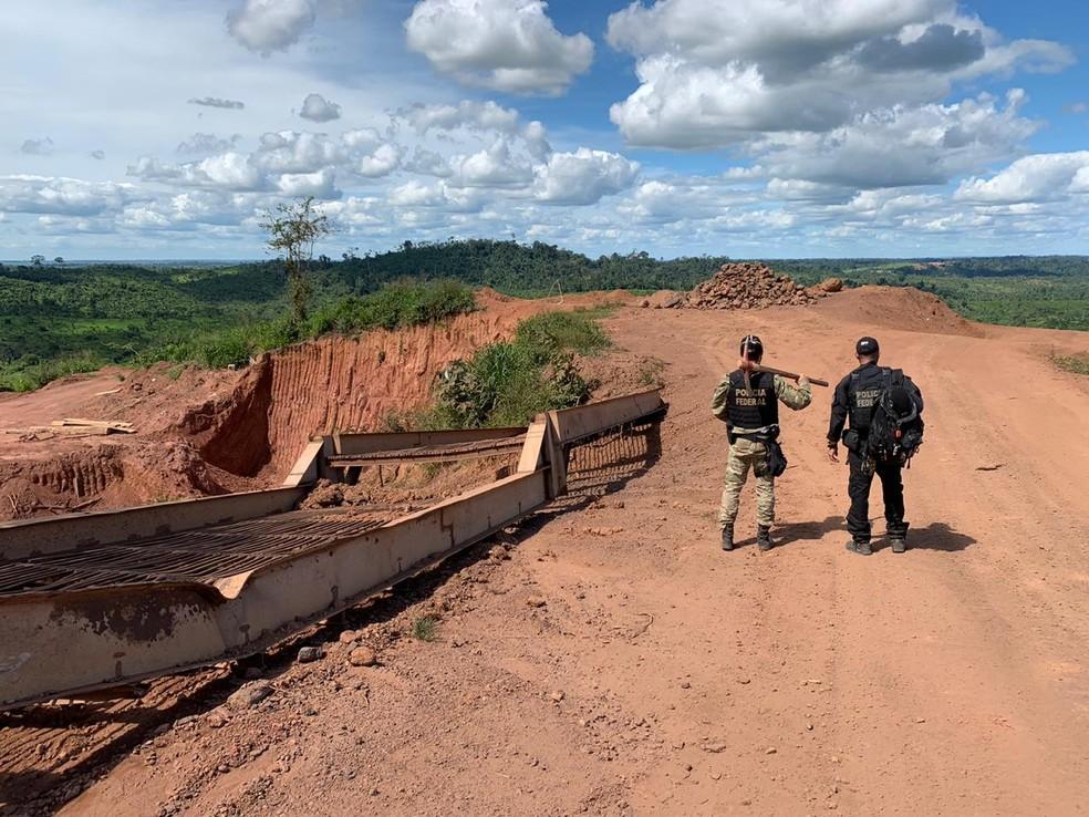 Operação combate extração ilegal de minérios no Pará. — Foto: Reprodução / Polícia Federal