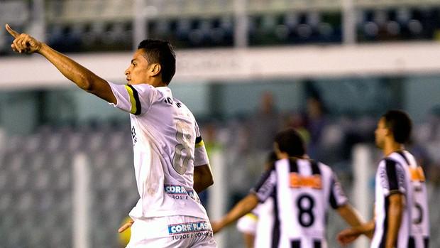 Cícero comemoração gol Santos jogo Atlético-MG (Foto: Lucas Baptista / Futura Press)
