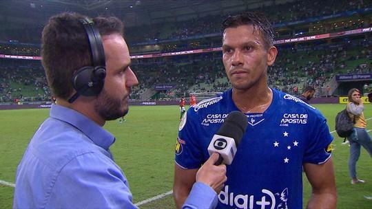 """Henrique fala após derrota do Cruzeiro para o Palmeiras: """"Falta criar mais"""""""
