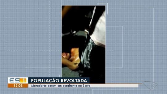 Suspeito é agredido após tentar roubar carro na Serra, ES