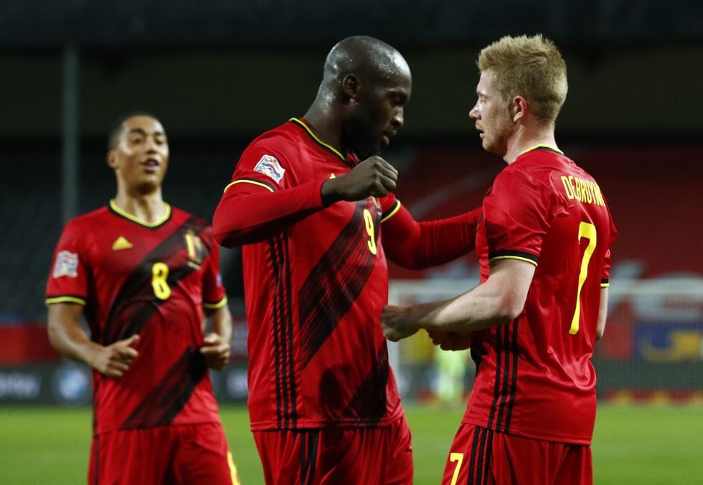 Bélgica de Lukaku e De Bruyne segue no topo do ranking da Fifa — Foto: REUTERS/Francois Lenoir
