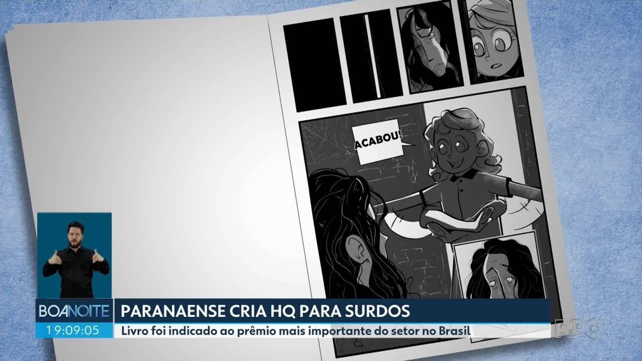 Paranaense cria HQ especial para surdos e é indicado a prêmio