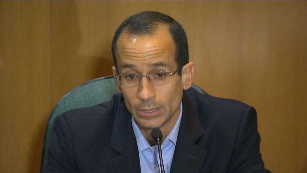 Marcelo Odebrecht foi preso durante a 14ª fase da operação Lava Jato (Foto: Reprodução GloboNews)