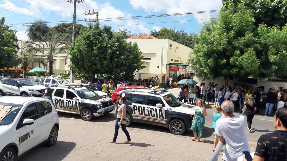 Polícia é acionada após tumulto durante prova no Ceará — Foto: Lorena Tavares/ Sistema Verdes Mares