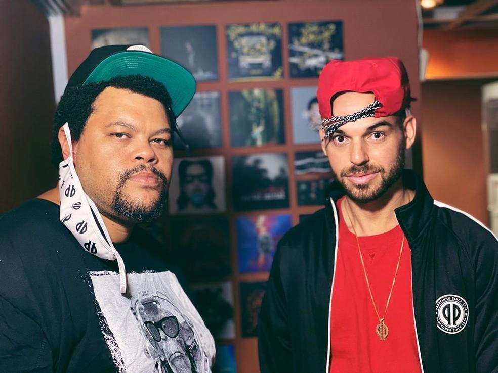 Papatinho convidou Babu para gravar com o rapper L7nnon, logo que o ator saiu do 'BBB20'; música vai ser lançada no dia 5 de junho — Foto: Reprodução/Instagam/Papatinho