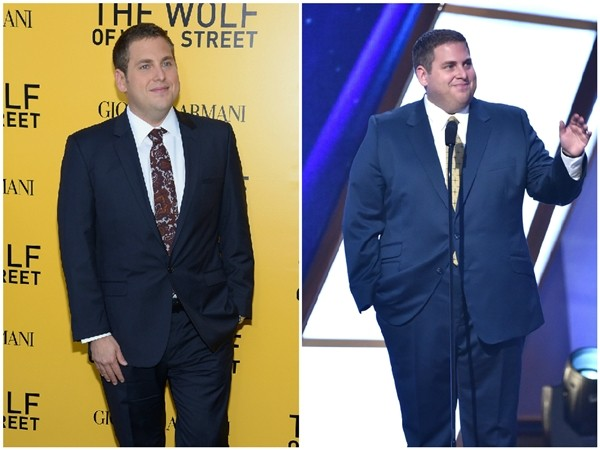 Jonah Hill em 2013 e 2014 (Foto: Getty Images)