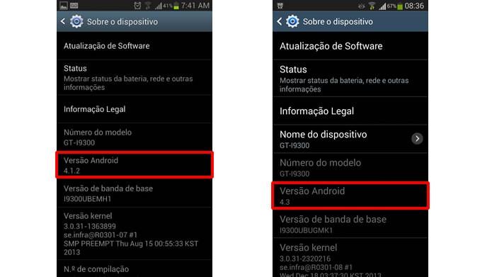 A atualização do Android do Galaxy S3 pode ser feita pelo próprio aparelho (Foto: Reprodução/Daniel Ribeiro)