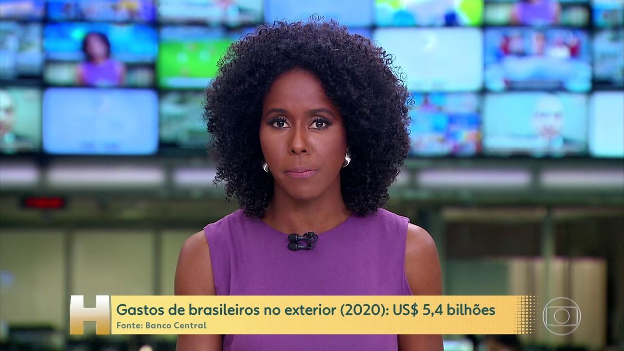Gastos dos brasileiros no exterior em 2020 despenca e é o menor valor em 15 anos