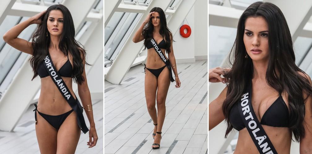 A Miss Hortolândia, Aiane Batista Freitas, de 25 anos, candidata a Miss São Paulo 2018 (Foto: Fábio Tito/G1)
