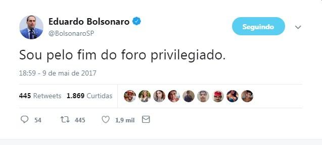Eduardo Bolsonaro no Twitter