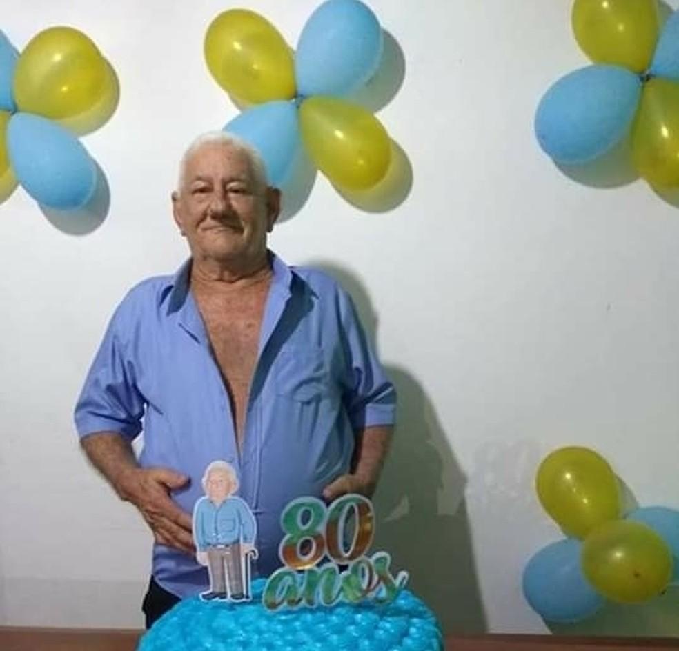 Asclepíades Jales de Macedo, de 80 anos, morreu com suspeita de coronavírus — Foto: Cedida pela família
