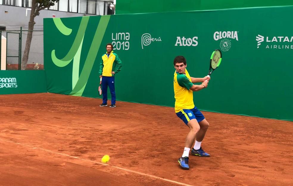 Thiago Wild en ação nos Jogos Pan-Americanos de Lima — Foto: Divulgação