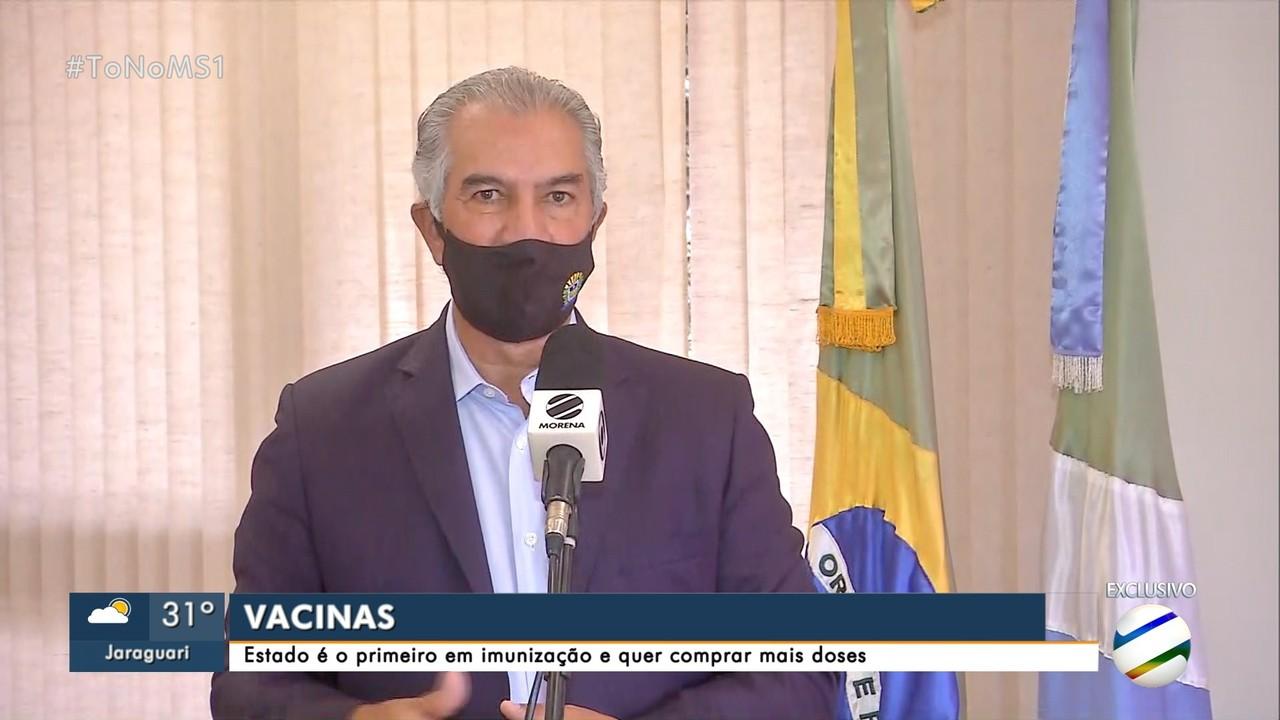 Governador Reinaldo Azambuja fala sobre novo programa de inclusão e compra de vacinas