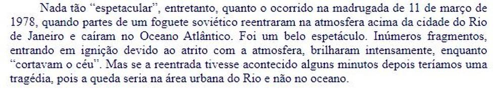 Trecho de texto do professor Renato Las Casas, da UFMG, que caiu no segundo dia de provas do Enem 2019 — Foto: Reprodução/UFMG