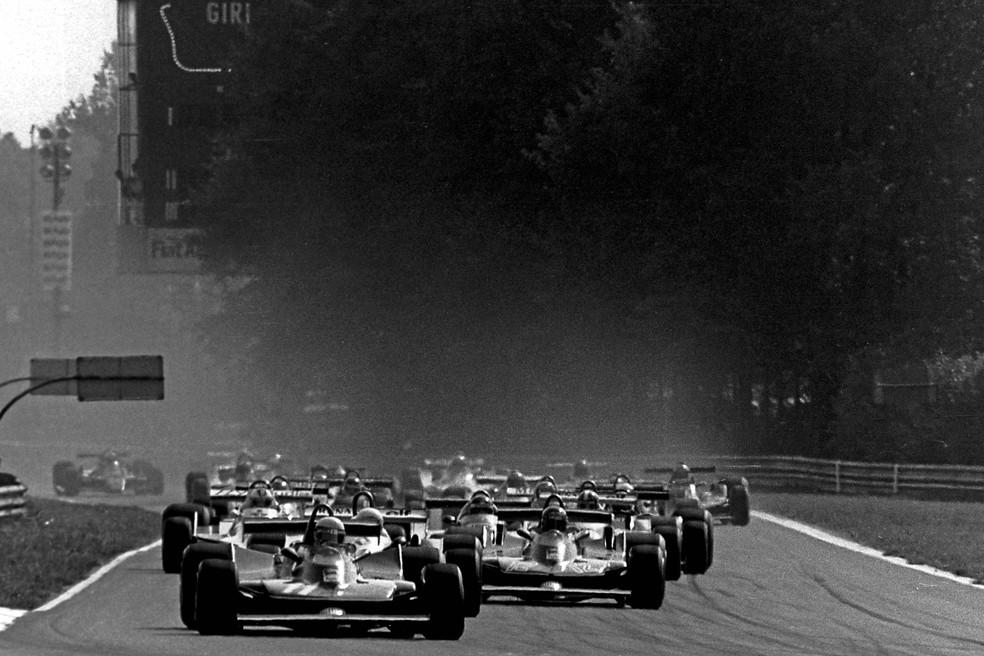 Largada do GP da Itália de 1979, em Monza — Foto: Getty Images