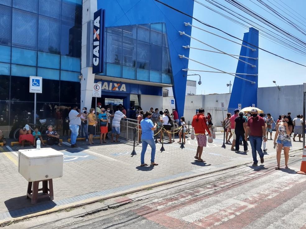 Agência da Caixa em Parnamirim, RN — Foto: Lucas Cortez/Inter TV Cabugi