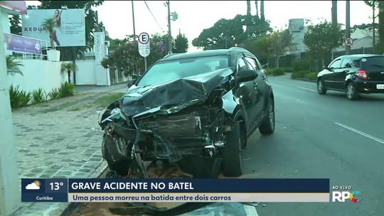 Homem morre em acidente entre dois carros no Batel, em Curitiba