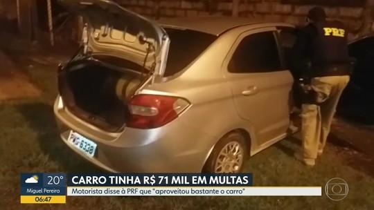 Italiano tem carro com R$ 71 mil em multas apreendido e diz à polícia que 'aproveitou bastante'